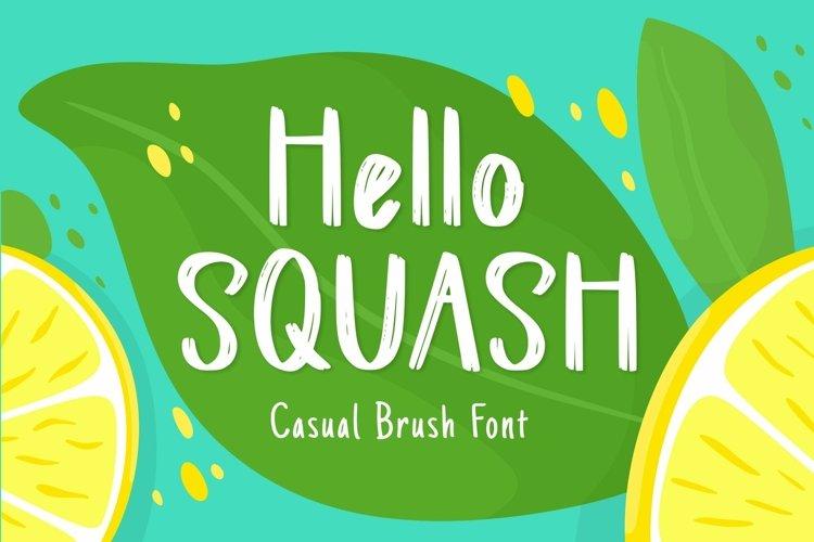 Web Font Squash Display Font example image 1