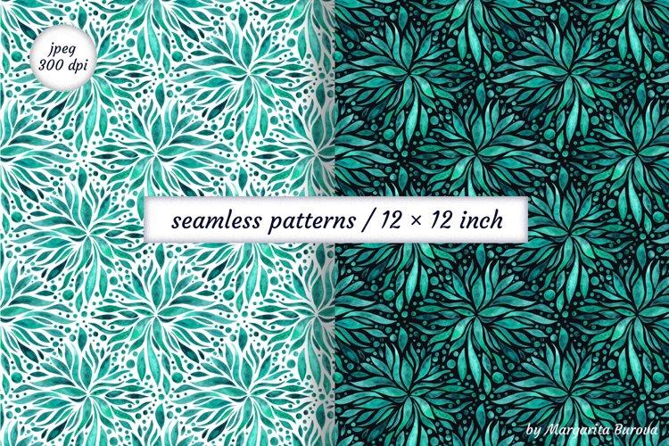 Watercolor seamless patterns