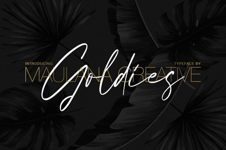 Goldies Signature Font example image 1