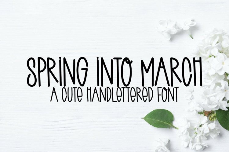 Web Font Spring Into March - A Quirky Handlettered Font example image 1