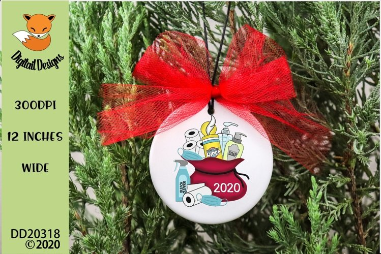 2020 Christmas Survival Kit Santa Sack Sublimation Design example image 1