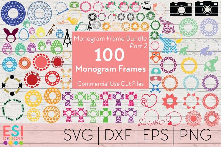 Monogram Frame Bundle Part 2 | 100 Frames for Monogramming. example image 1