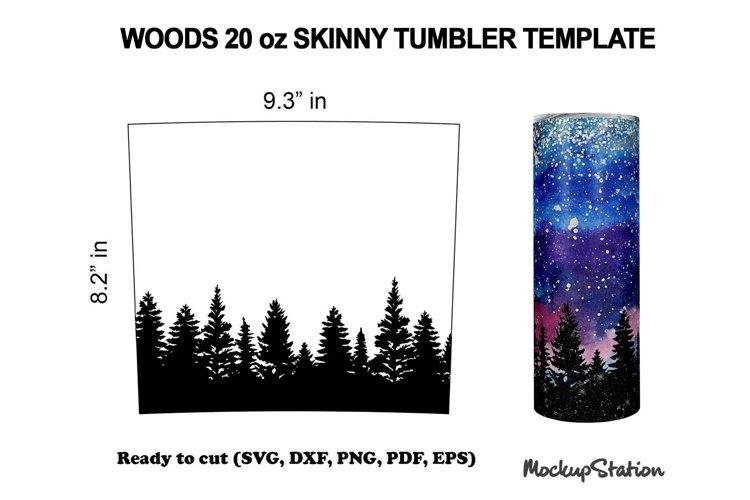 Northern Lights Tumbler SVG Template 20oz Skinny SVG, DXF