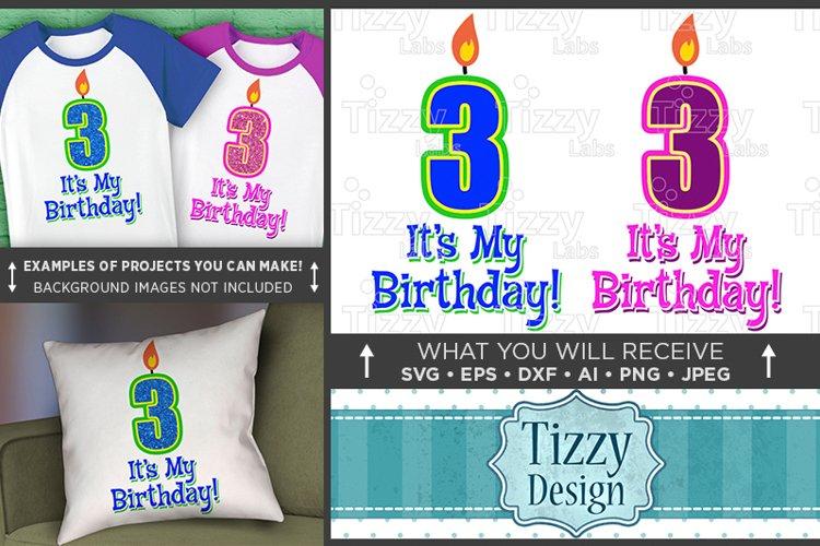 3rd Birthday Svg - Its My Birthday SVG Birthday Shirt - 1030 example image 1
