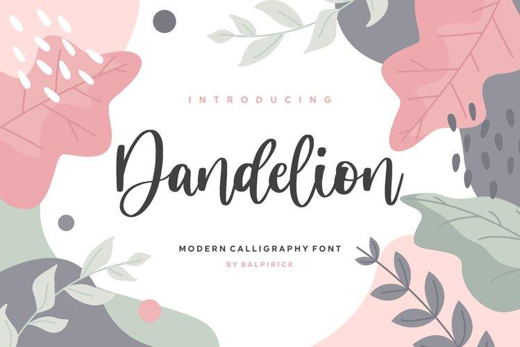 Dandelion Modern Calligraphy Font example image 1