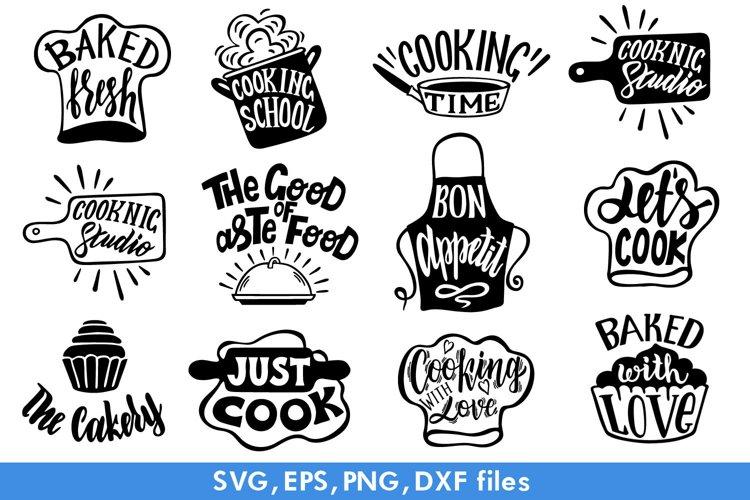Kitchen SVG Bundle. Kitchen lettering and illustration