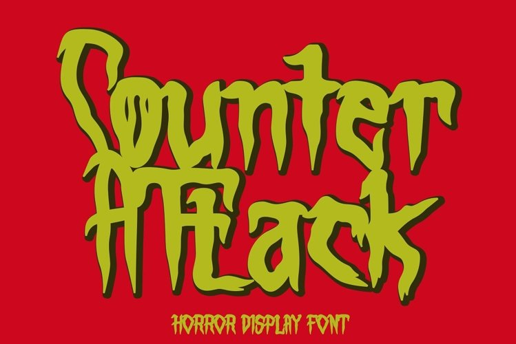 Counter Attack - Horror Font example image 1