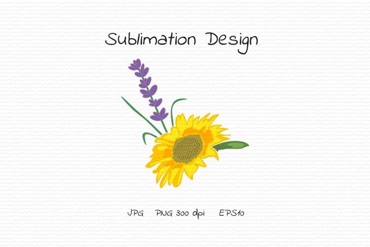 Sunflower and lavender - Sublimation Design