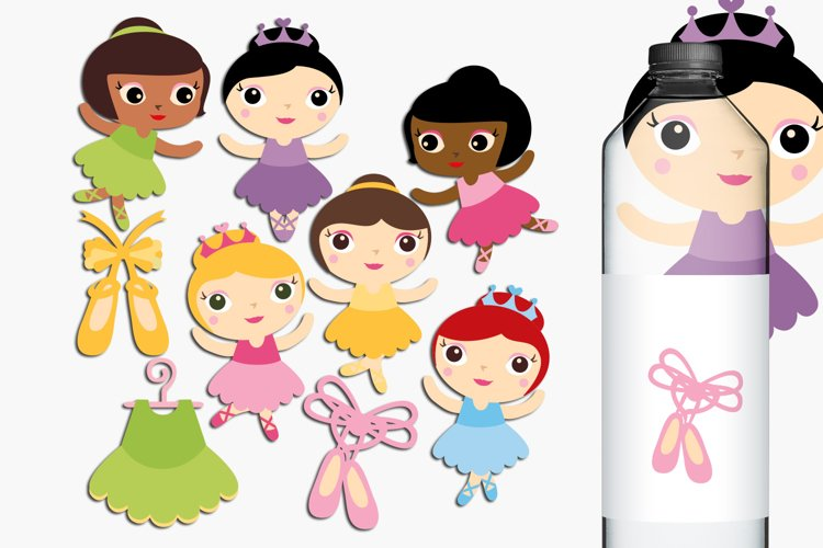 Ballerina illustrations and graphics example image 1