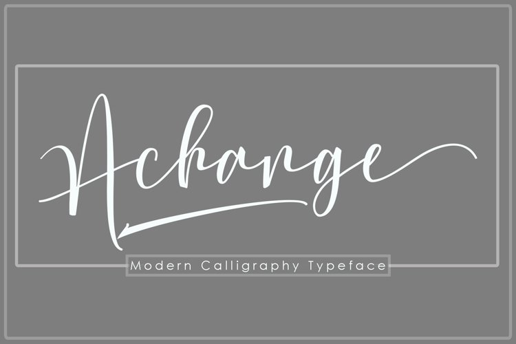 Achange Font Duo example image 1