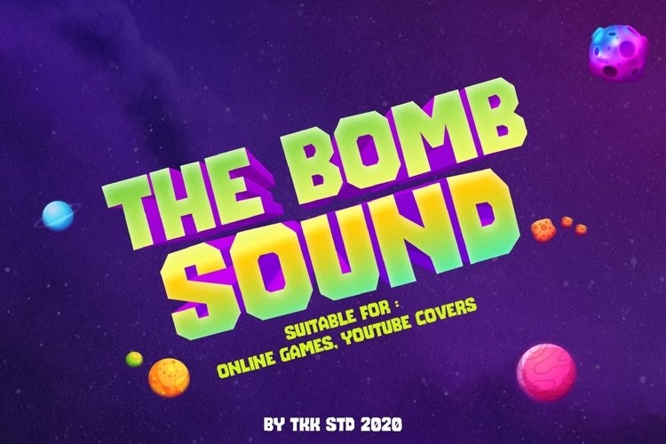 The Bomb Sound - Modern Block Gaming Font example image 1
