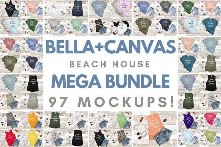 Bella Canvas TShirt Mockup Bundle Beach House Summer Style example image 1