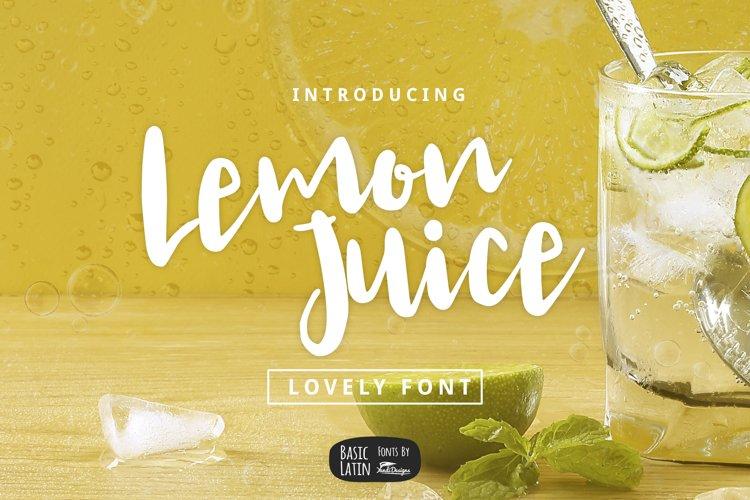 Lemon Juice Script Font example image 1