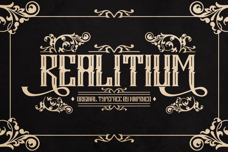 Web Font Realitium Font example image 1