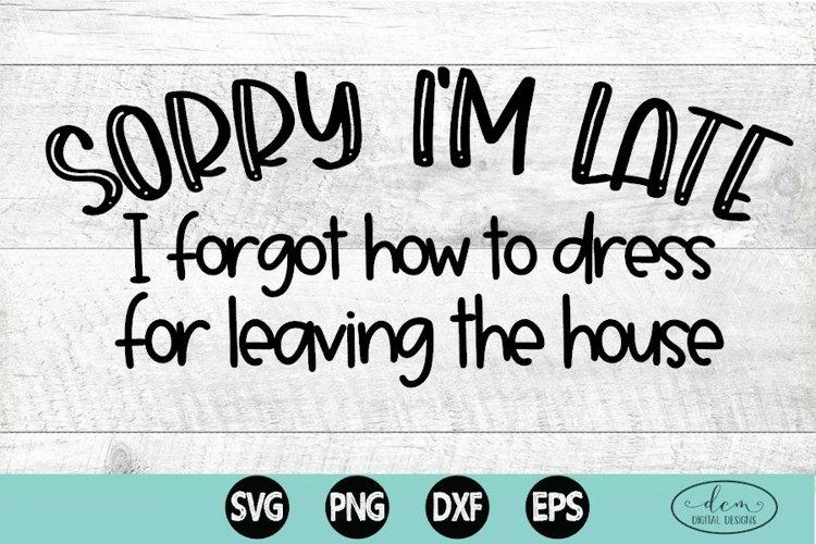 Sorry Im Late funny tshirt SVG, Post Quarantine svg