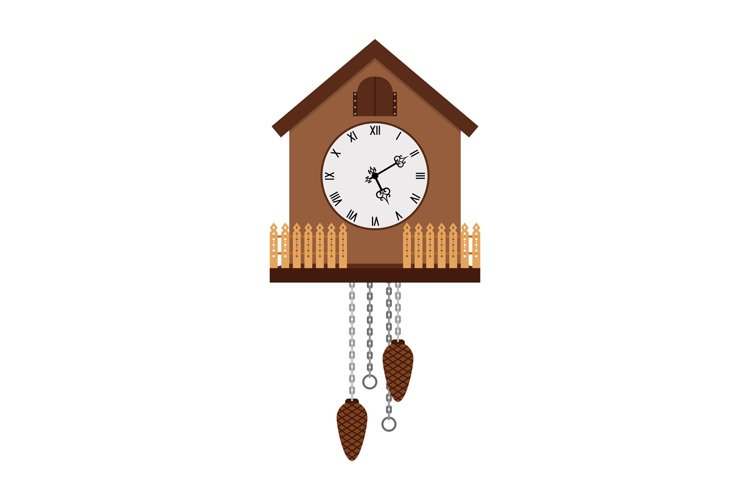 Beautiful cuckoo-clock isolated on white example image 1