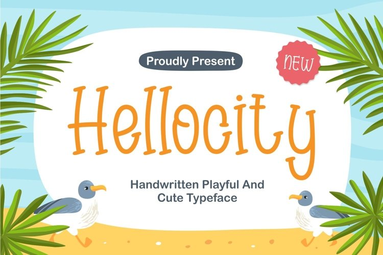 Hellocity - Handwritten Playful and Cute Typeface example image 1