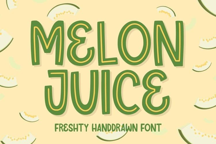 Melon Juice - Freshty Font example image 1
