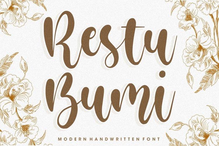 Restu Bumi Modern Handwritten Font example image 1