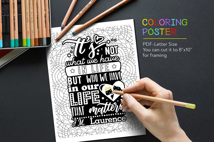 Coloring Anti-Stress Poster example image 1