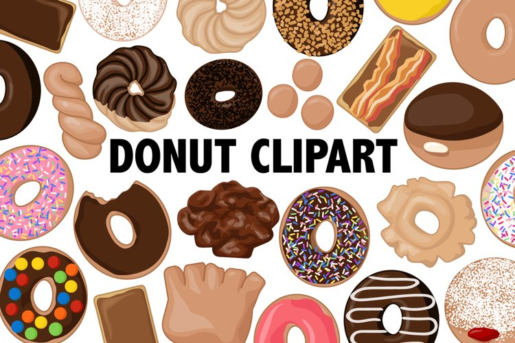 Donut Clipart - 30 images example image 1