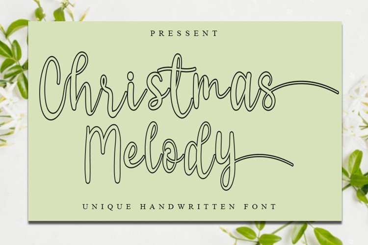 Christmas Melody - Unique Christmas Font example image 1
