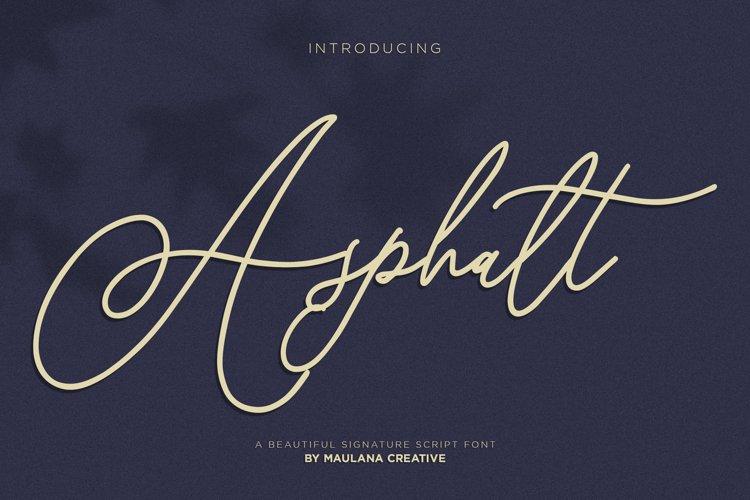 Asphalt Signature Font example image 1