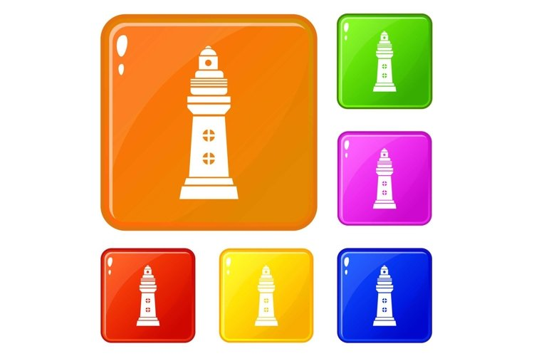Navigation icons set vector color example image 1
