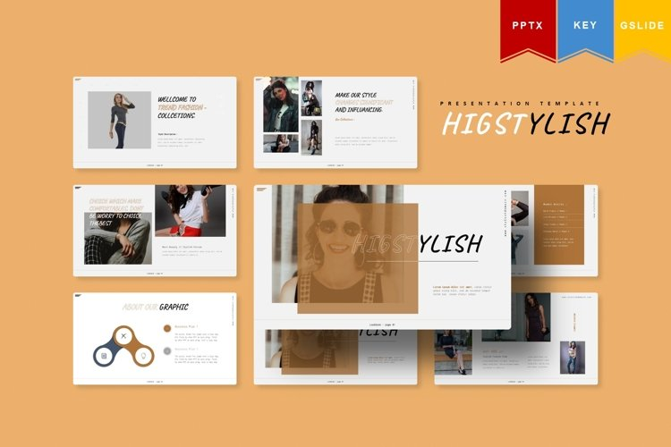 Higstylish| Powerpoint, Keynote, GoogleSlides Template example image 1