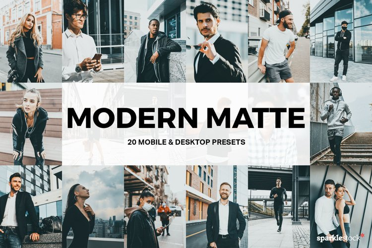 20 Modern Matte Lightroom Presets and LUTs example image 1