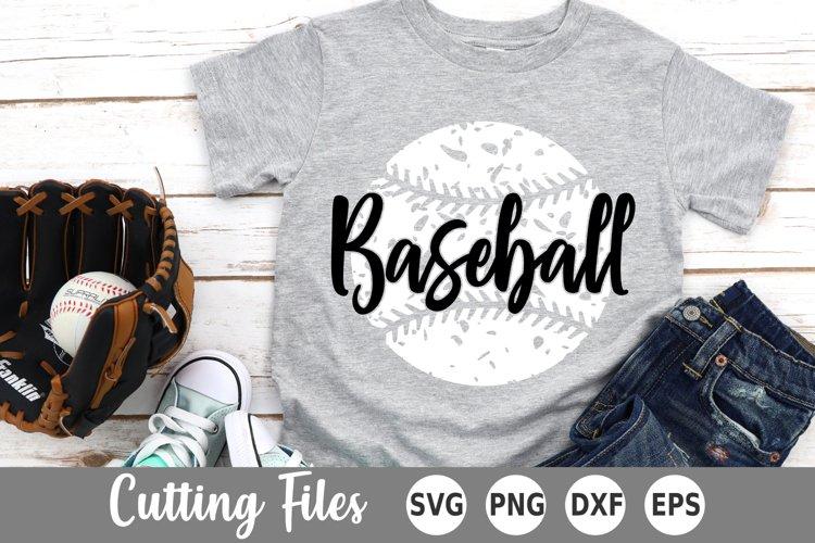 Baseball SVG   Distressed Baseball SVG example image 1