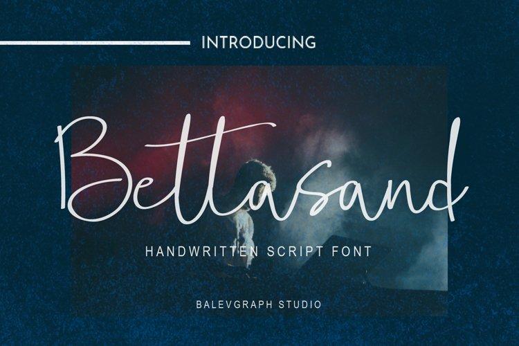 Bettasand Handwritten Script Font example image 1