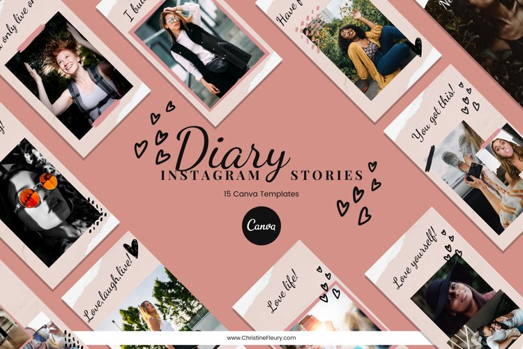 Instagram Story Canva Template - Diary