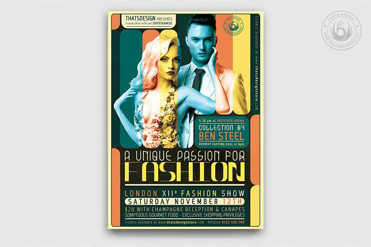 Fashion Show Flyer Template V1 example image 1