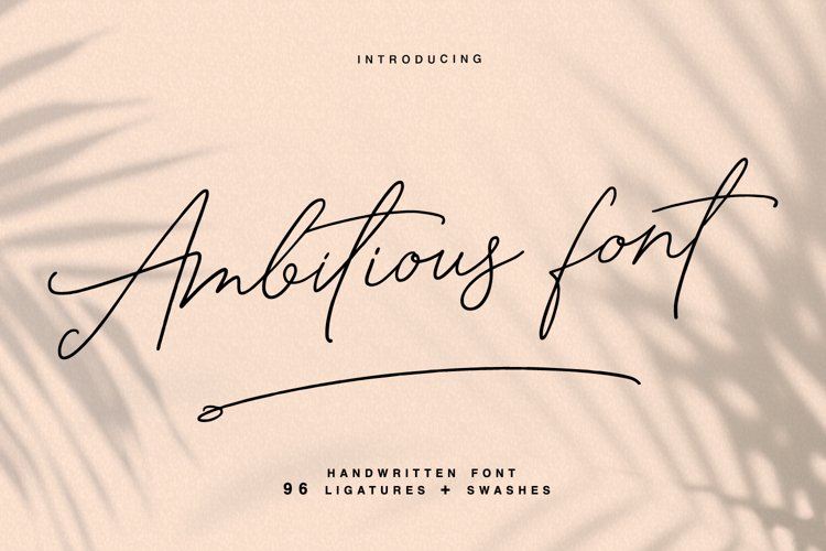 Ambitious - handwritten font example image 1