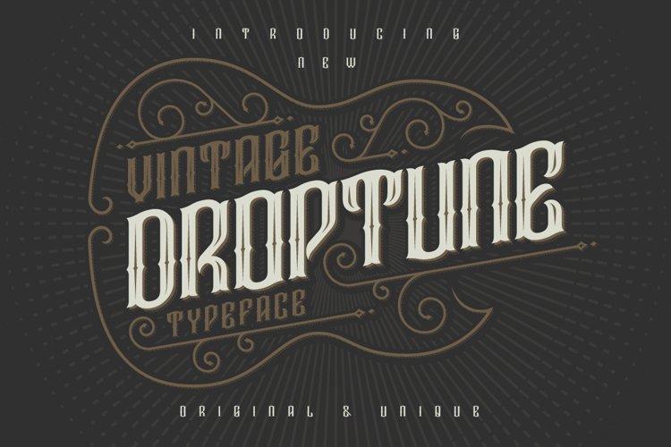 Droptune typeface example image 1