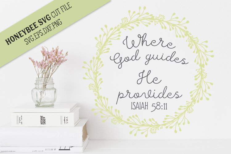 Where God Guides SVG Cut File example image 1