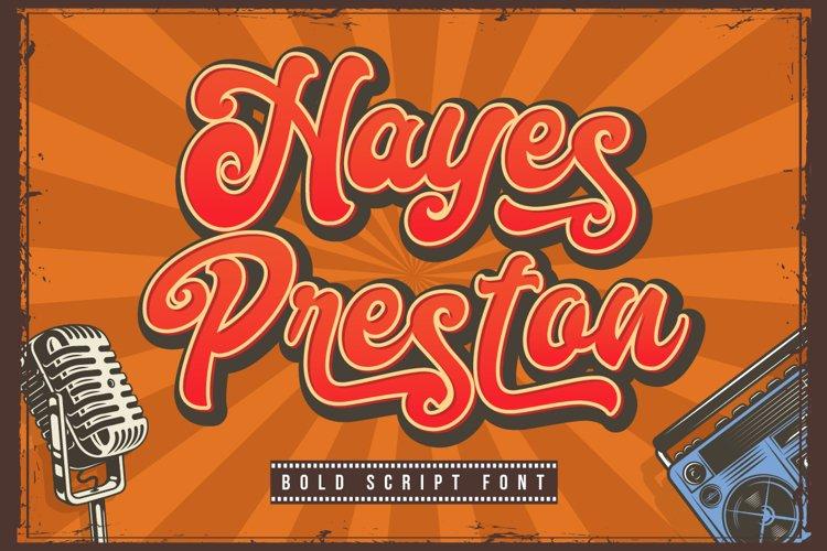 Hayes Preston example image 1
