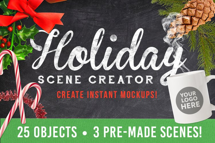 Christmas Holiday Mockup Scene Creator