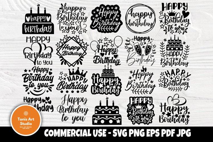 Happy Birthday SVG Bundle, Birthday cake Svg Cut Files