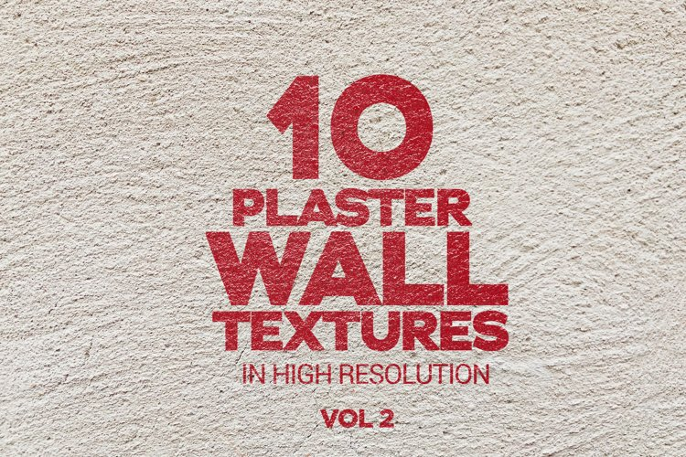 Plaster Wall Textures Vol 2 x10 example image 1
