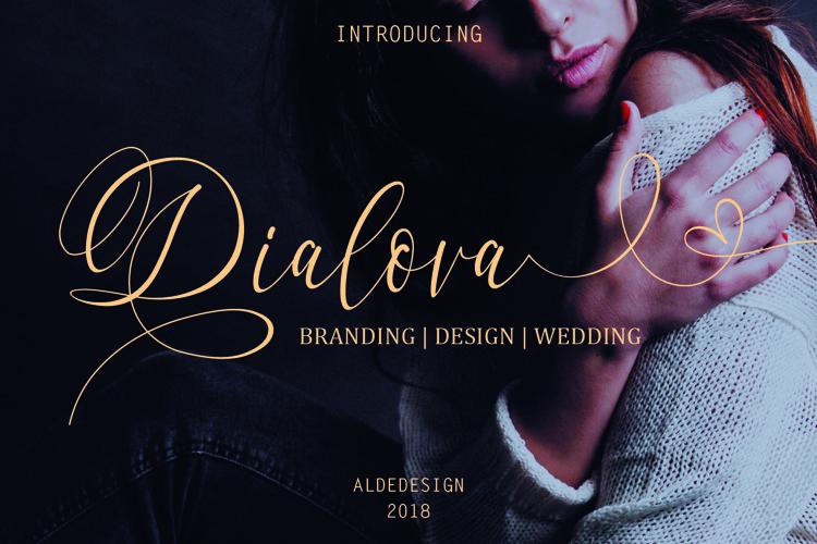 Dialova - Beautiful Calligraphy - Free Font of The Week Font