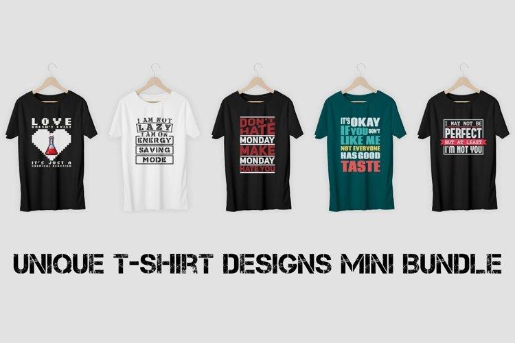 Unique T-Shirt Designs Mini Bundle Vol. 1