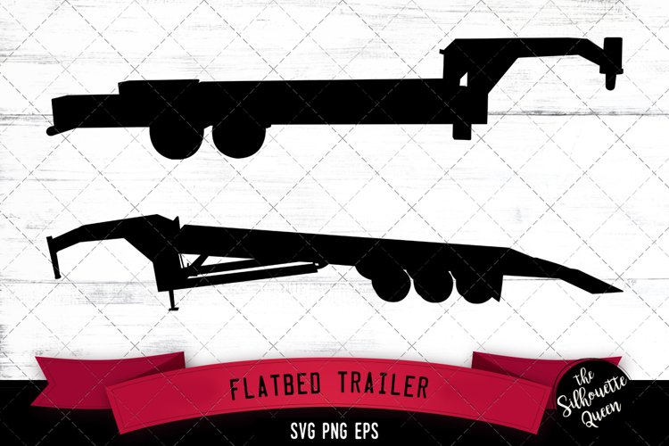 Flatbed Trailer Svg Cut File