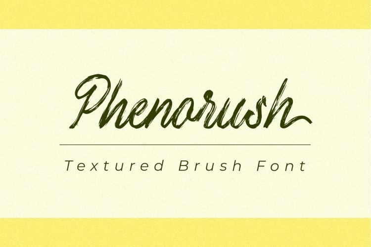 Phenorush - Textured Brush Font example image 1