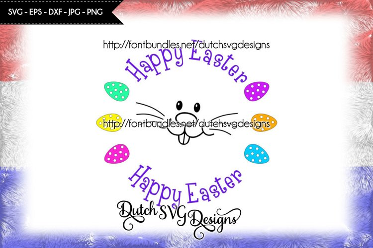 Happy Easter cutting file, easter svg, easter bunny svg