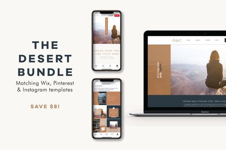 The Desert Bundle | Wix Website | Social Templates example image 1