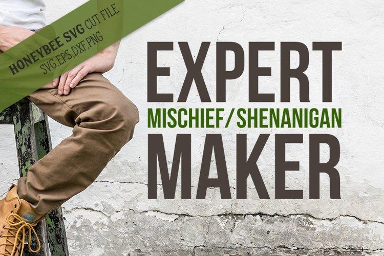 Expert Mischief Maker SVG Cut File example image 1