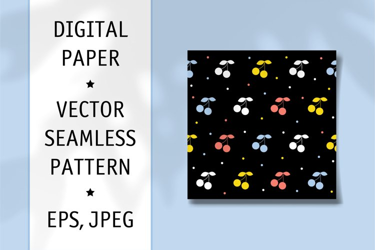 Fabric Seamless Pattern. Digiral Paper. Scrapbook Paper. example image 1