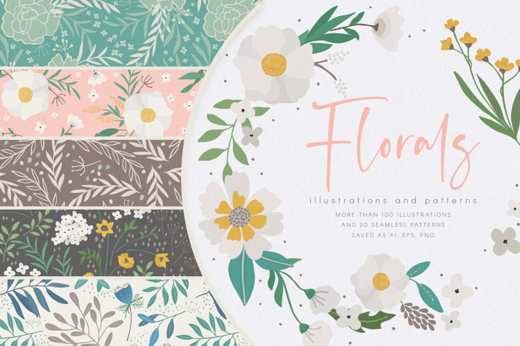 Floral Illustrations and Patterns example image 1